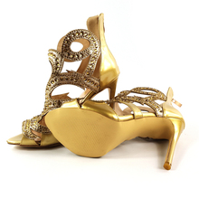 Cover Heels Extreme High Heels Bling Gold Shoes Women Urban Sexy Summer Women Pumps Party Zippers Open Luxury Plus Size