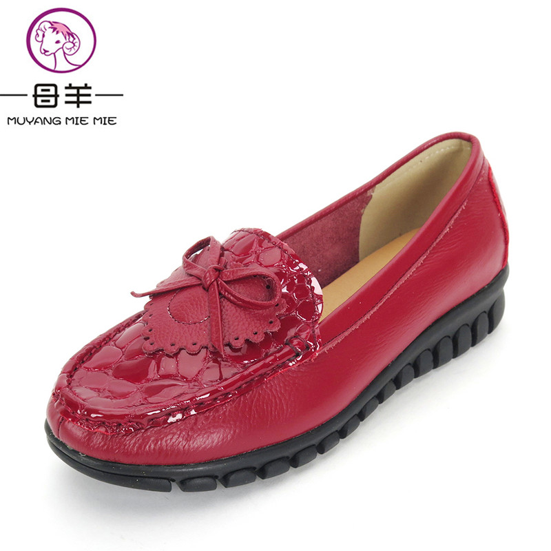 Women Shoes New Arrive Genuine Leather Bow Flat Shoes Woman Casual Work Shoes Soft Sole Moccasins Women Flats aftermarket free shipping motorcycle parts eliminator tidy tail for 2006 2007 2008 fz6 fazer 2007 2008b lack