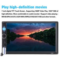 7 Inch Dual Din Car Styling MP5 Player FM Radio Support Card Reading Function Bluetooth Hands