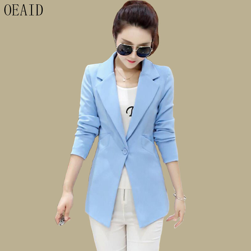 Blazers Women Suits New 2019 Fashion Coat Women Blazer Short Slim Coats And Jackets Spring And Autumn Suit Female Outerwear(China)