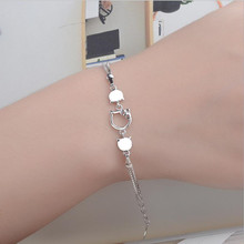 LUKENI Top Quality Silver Cat Shaped Women Bracelets Accessories Fashion 925 Sterling For Party Jewelry