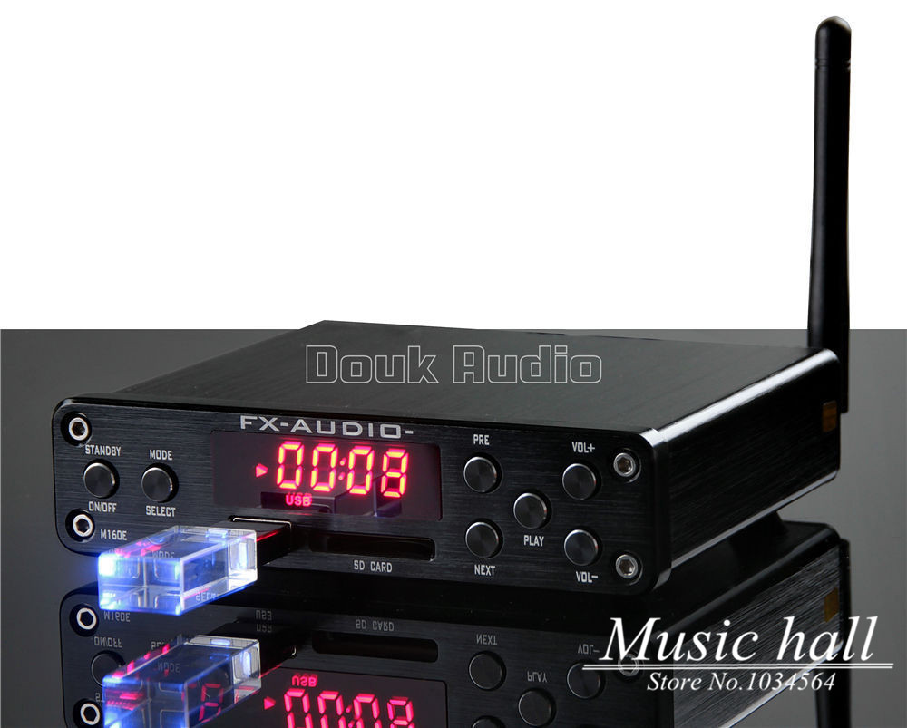 2017 New Music Hall Integrated HiFi High Power Digital Amplifier U-Disk/SD Card/PC USB/Bluetooth 4.0 Free Shipping