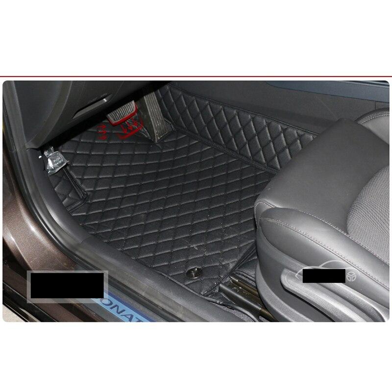Lsrtw2017 Fiber Leather Car Interior Floor Mat For Hyundai Sonata 2005 2019 2006 2007 2008 2017 2016 2018 I45 In Mouldings From