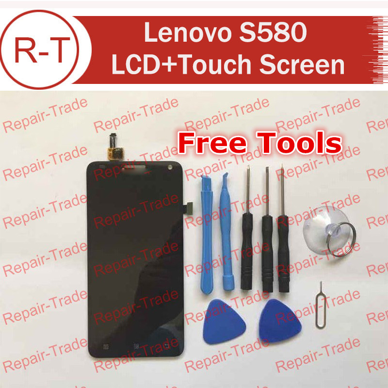 For Lenovo S580 LCD Screen High Quality lcd display+touch Screen Panel Replacement For Lenovo S580 Smart Phone+In Stock high quality 5 0 for lenovo s580 full