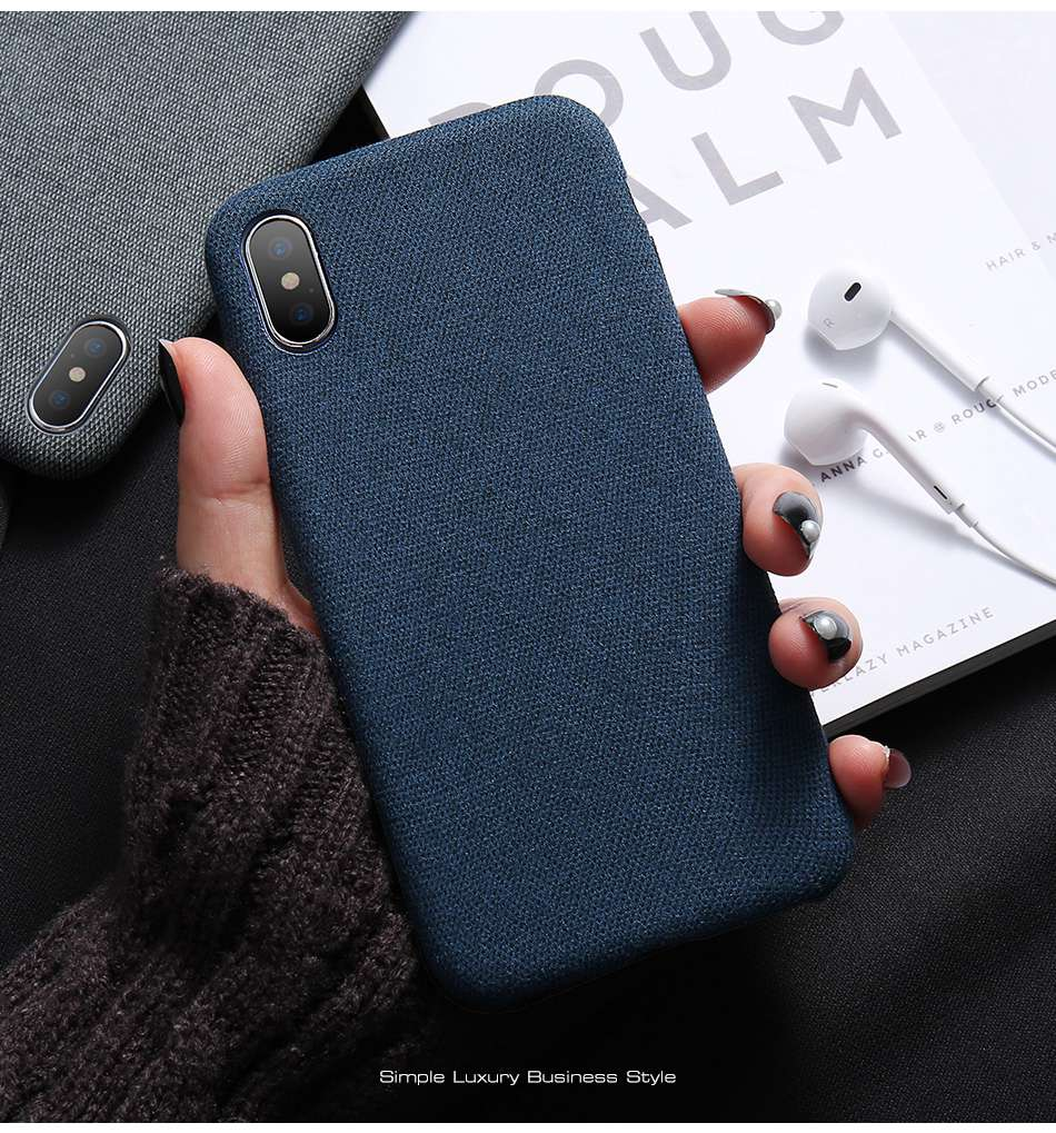 HTB1tahmu7SWBuNjSszdq6zeSpXaK - KISSCASE Cloth Patterned Case For iPhone X 10 Simple Vintage Business Case For iPhone X 6S 7 8 Plus Capinhas Ultra Slim Fashion