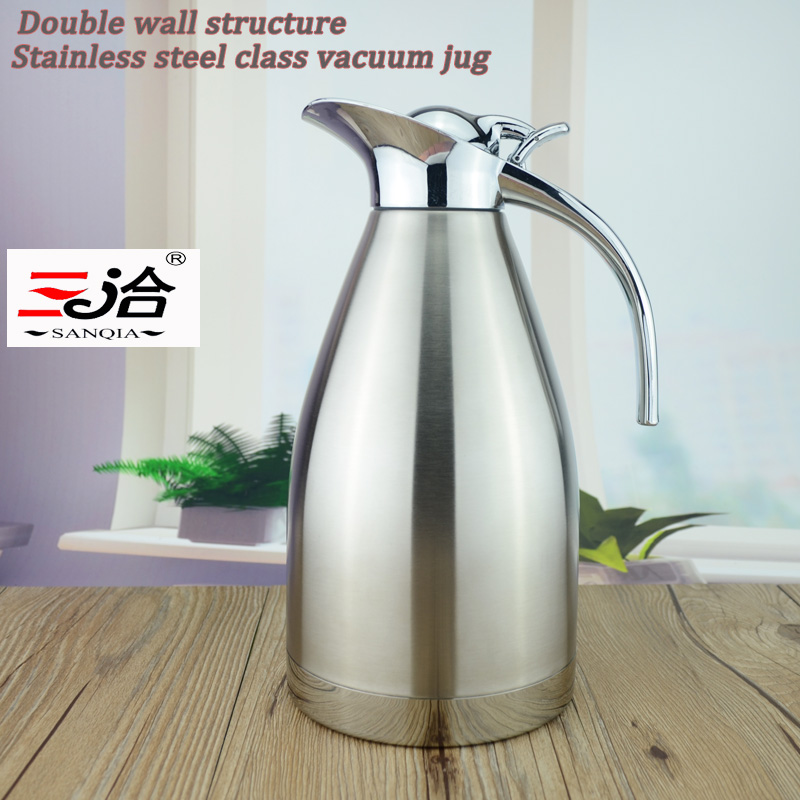 2 0L Coffee Thermos Mug Stainless Steel Teapot Vacuum Flasks Thermo Hot Water Bottle 2000ml stainless