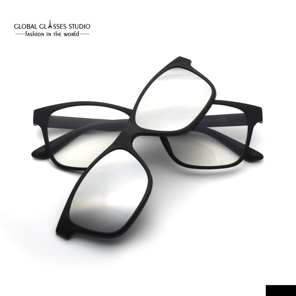 3d98041ddf8 Free Shipping Ultra Light Magnetic Polarized Rectangle Sunglasses Clip  Latest Design Sunglasses Fashion Trend Eyeglass 2246A