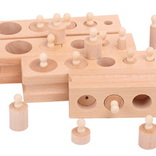 Pet Birds Toys Wooden Cylinder Blocks Stacking Puzzle Intellectual Develpment Toys for Parrots TB Sale