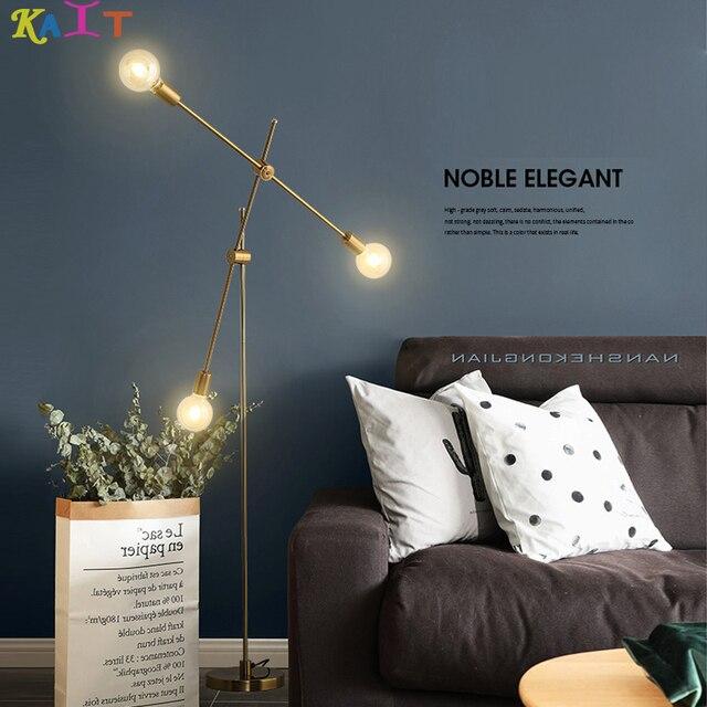 KAIT Moderne Gold Boden Lampe Stativ Stehende Lampen Metall für Wohnzimmer