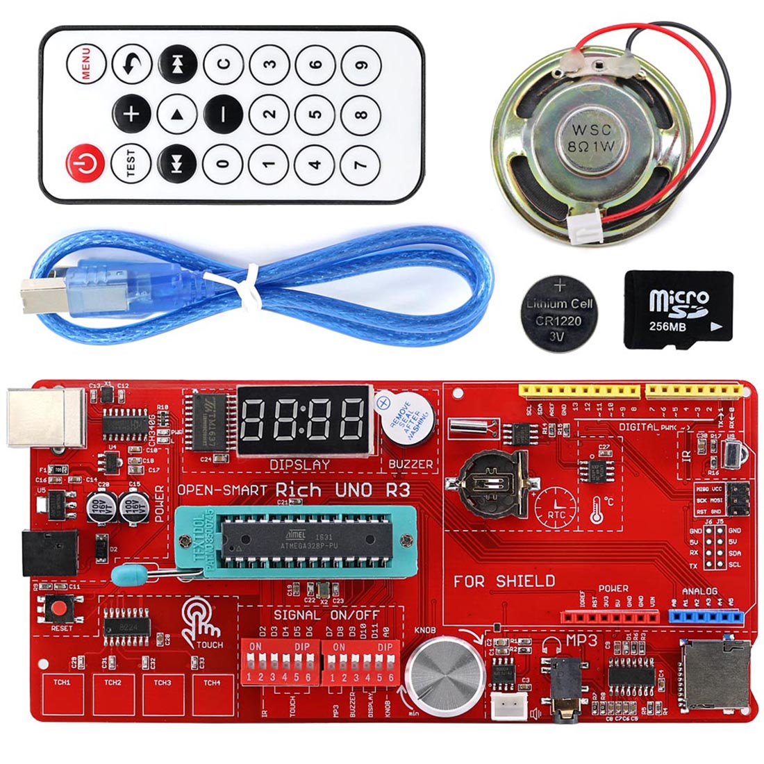 MODIKER DIY Kit For UNO R3 Atmega328P Development Board Module Kit With Trumpet Remote Control For Arduino Programmable Toys