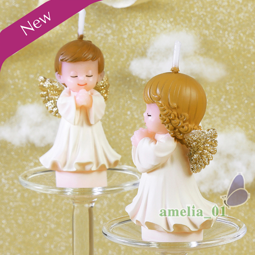 2PcsSet Creative Angel shaped wax candle child birthday cake
