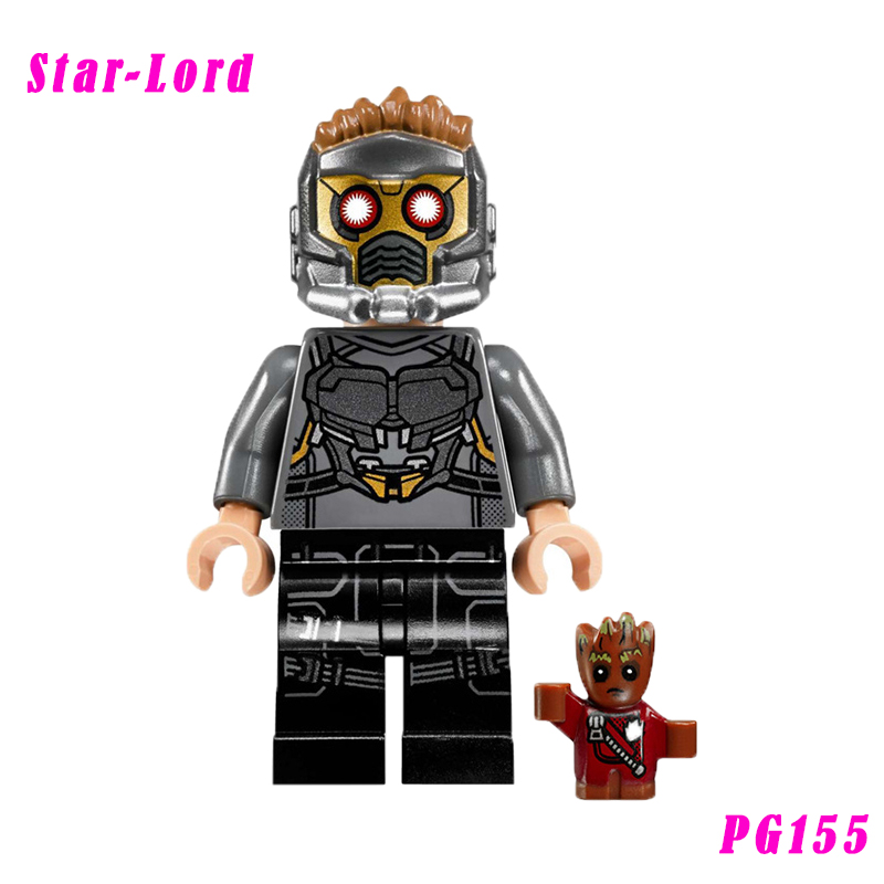 Star Lord Mini Bricks Peter Quill Super Heroes Diy Doll Pg158 Single Sale Action Figure Building Blocks Toys For Children captain america super heroes red skull diy bricks single sale xh065 action figure building blocks toys for children