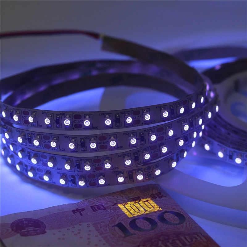 Светодиодный полоски черный свет Невидимый 395-400nm Ультрафиолетовый Лента светодиодная УФ-лента ламповый аквариум 3528 SMD DJ флуоресцентный Вечерние