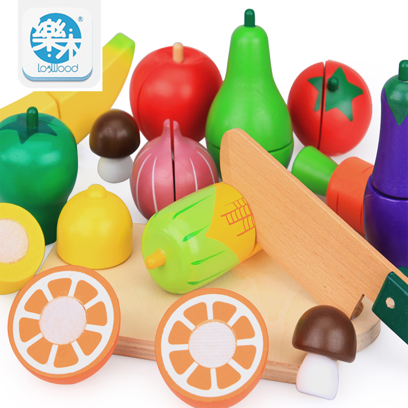 15PCS/SET Wooden Kitchen Toys Cutting Fruit Vegetable Play Food Kids Wooden fruit Toy fruit and vegetables food toy все цены