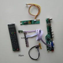 TV HDMI USB VGA AV LCD LED AUDIO 1 CCFL lamps Controller kit display Board For 15.4″ LTN154X3-L01 1280*800 cable card