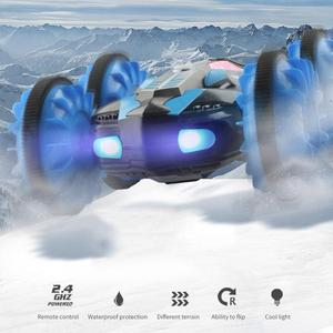 Image 2 - RC Amphibious Stunt Car Waterproof 360 Degree Rotation Remote Control Car Power Speed Vehicle Toys for Kids