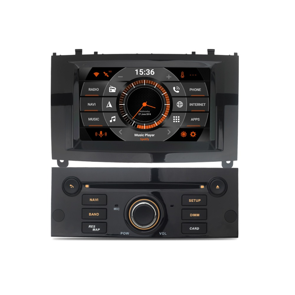 7 Android 8.0 Auto Radio GPS For Peugeot 407 2004 2005 2006 2007 2008 2009 2010 Car DVD FM Stereo GPS Navigation Backup Camera 7 touch screen car dvd stereo player for mazda3 mazda 3 2004 2005 2006 2007 2008 2009 bluetooth radio gps navigation system