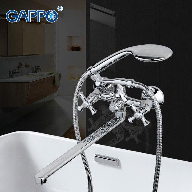 GAPPO badewanne armaturen bad dusche armaturen messing wand montiert ...