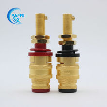 5PAIRS CMC 878L-SE gold-plated OFC Longer binding post For Vacuum Amplifier DAC  speaker  CD Player Speaker