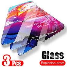 Vidrio Templado 3 piezas para Samsung Galaxy A50 A30 vidrio Protector de pantalla para Samsung Galaxy M20 M30 A20 A20E A40 a80 A70 A60 de vidrio