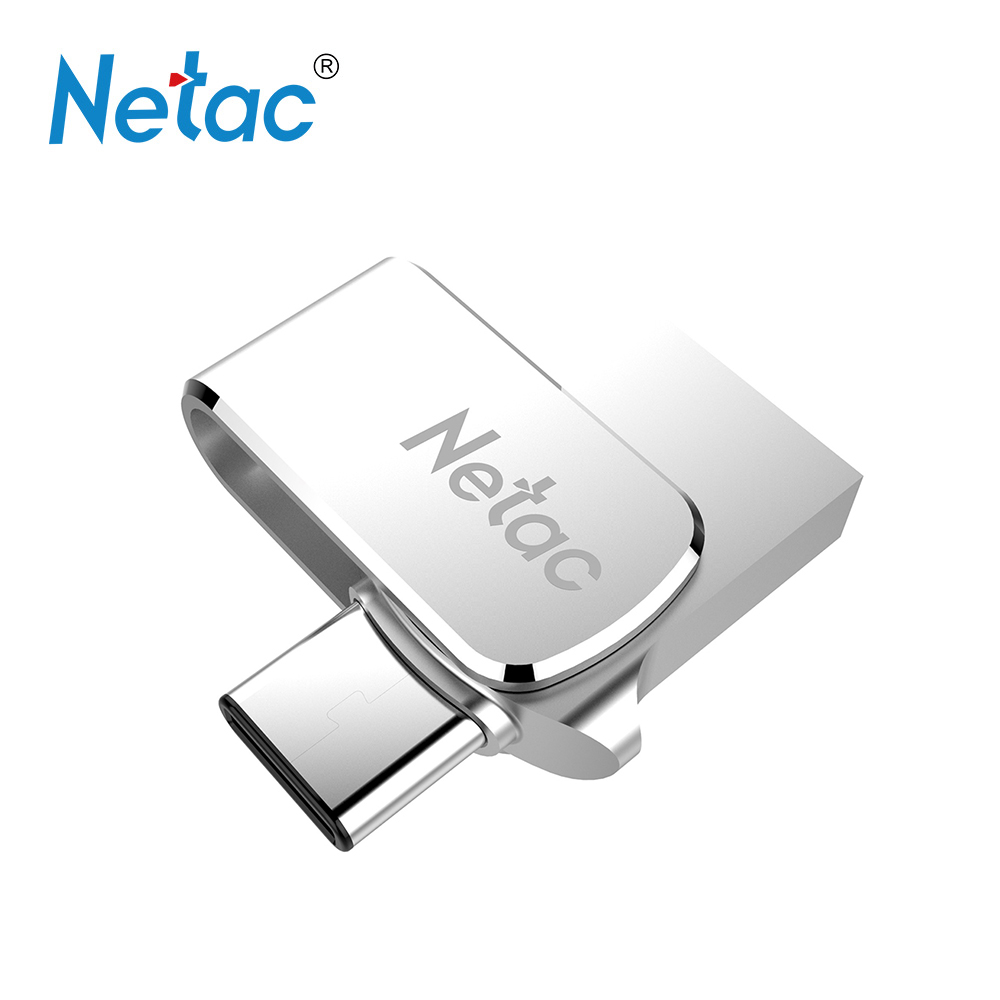 Netac U780C USB Flash Pendrive 32G 64G USB3.0 Type-C Dual Interface Usb Pen Drive For Android OTG Metal Stick Memory Storage ...
