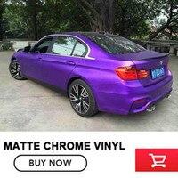 OPLARE 5x65FT de cromo mate Púrpura película mate del coche que envuelve la película del cromo mate del abrigo del vinilo del aire bubblmes gratuitas envío libre