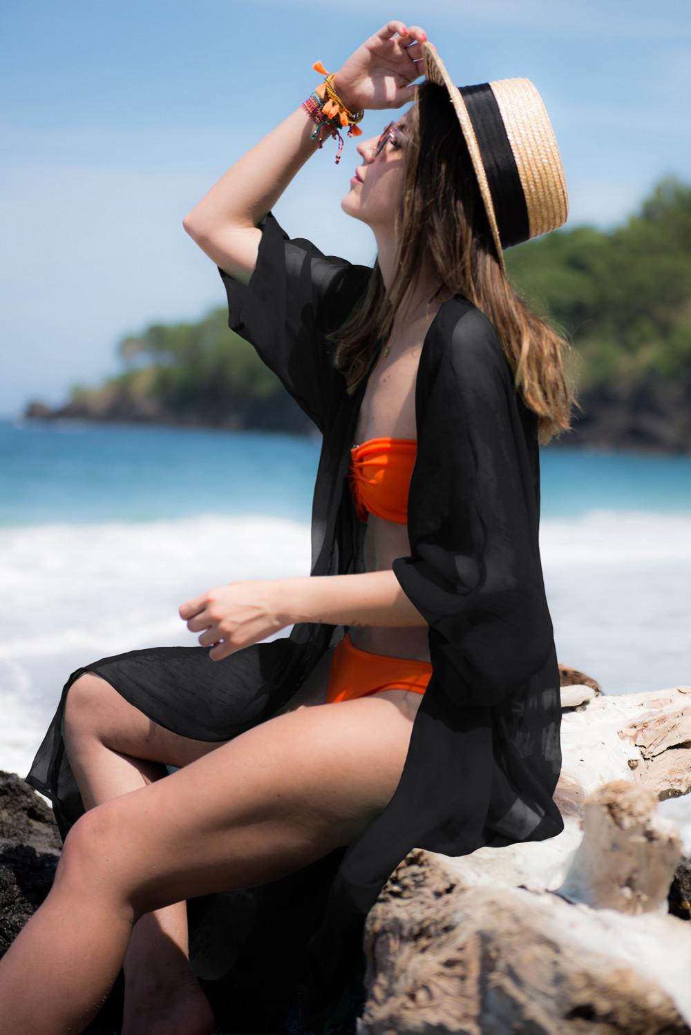Trendy White Swimwear Bikini Beach Cover Up Pareo Beach Kaftan Sexy Bathing Suit Cover Ups Swimsuit Coverups Beach Wear Women 8