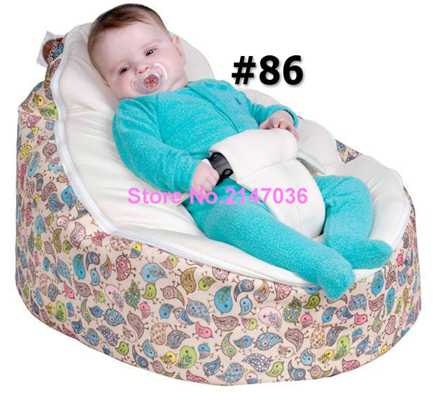 2016 Birds with cream harness seat Soft cartoon baby bean bag, waterproof kids beanbag sofa seat