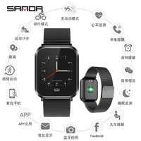 三田 smart watch 男性の防水心拍数モニター血圧トラッカースポーツ腕時計メンズデジタル時計の android ios