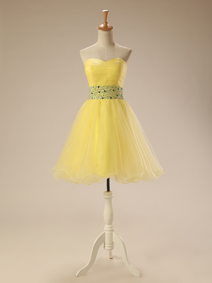 f120bd0622215 Buy short yellow homecoming dresses and get free shipping on ...