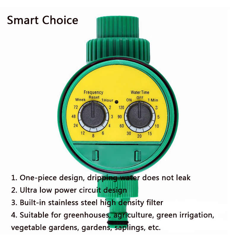 Cerdas Sistem Irigasi Penyiraman Timer Selang Keran Tahan Air Luar Ruangan Otomatis On Off LCD Display Smart Controller ABS
