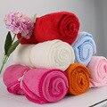 Direto da fábrica sólida-colorido coral macio do velo cobertor, ar condicionado cobertor, cobertores do bebê recém-nascido cobertor de lã padrão
