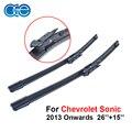 """Oge car windscreen wiper blade para o chevrolet sonic 2013 em diante 26 ''+ 15"""" profissional limpador dianteiro cpb107"""
