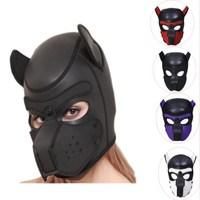 Fetish Sex Erotic Toys For Adults Women Latex Puppy Play Dog Hood Mask BDSM Bondage Restraints Slave Head Harness For SM Games