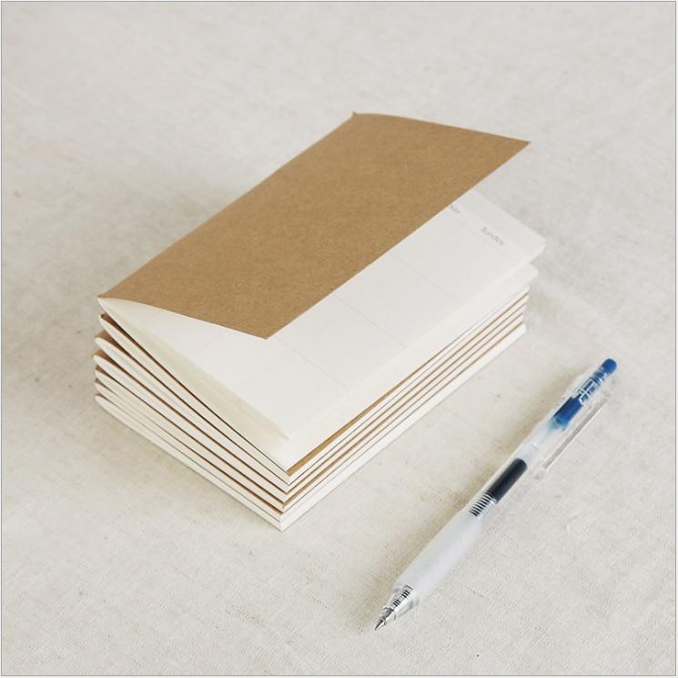 Traveler Notebook Refill Paper Insert Paper Inner Filling Paper Daily Memo Pad Mini Passport Size 9x12.5cm