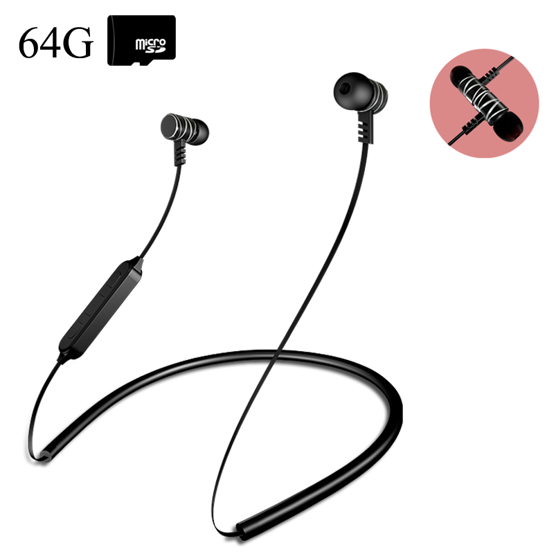 Bonertop K1 Neckband Bluetooth Earphones Metal Magnetic Wireless Headphones Sport Stereo Earbuds TF card MP3 Music Phone Headset dawupine e508 sport stereo earphones with fm radio and mp3 player support tf card running wireless headset earphones