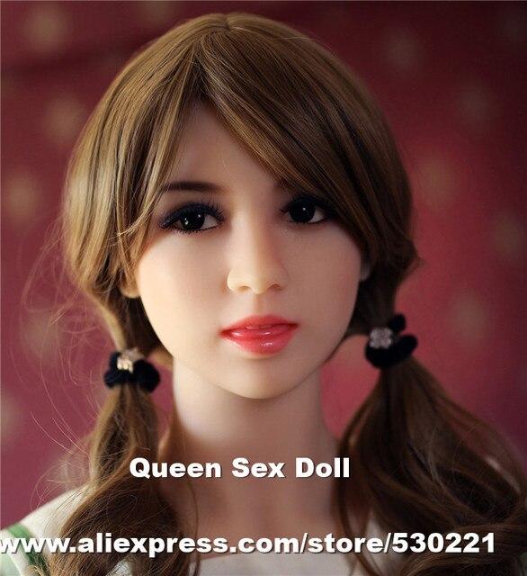 Wmdollトップ品質マネキンセックス人形ヘッド用シリコーン大人の人形、日本リアル人形ヘッドでオーラルセックス