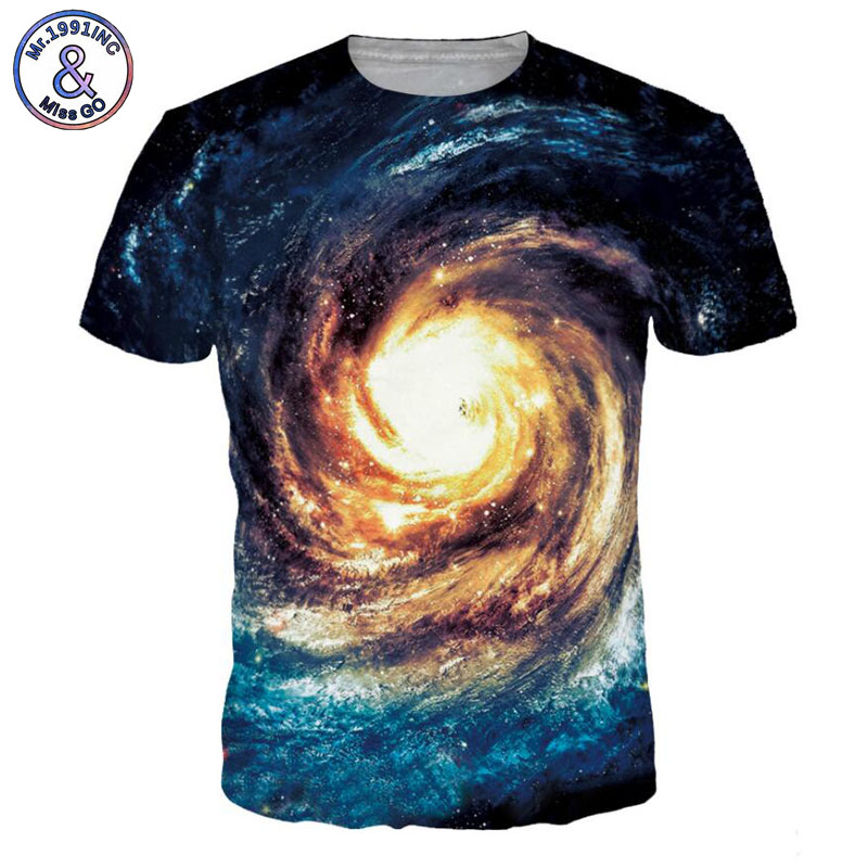 Mr.1991INC 2018 New Hot Men/Women t shirt Short Sleeve Summer 3D Spiral sky creative printing T-shirt Tops Tees S-3XL NA300