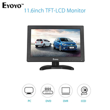 Eyoyo V60 11.6″ HD 1366*768 Video Monitor HDMI VGA BNC AV Audio For DSLR PC CCTV DVD Free shipping