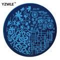 Yzwle 1 unids placa de acero inoxidable imagen placas estampación sello DIY plantilla de manicura esmalte de uñas herramientas ( JQ-40 )
