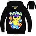 Pokemon Мальчик Балахон Мультфильм Мальчик Одежды Детей Футболки Хлопок Pocket Monster Pokemon Мальчики Одежда С Длинными Рукавами Рубашки DC1055