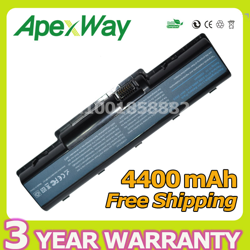 Apexway 4400mAh 11.1v AS07A41 AS07A31 Battery for Acer Aspire 5740g 5738 5738z 5738g 5738zg 5735z 5737z 5740dg 5740g 7715z 5740 10 8v 11 1v 12 cell laptop battery pack for acer aspire 5340 5542 5738z 5740 as5740 as5542 as07a75