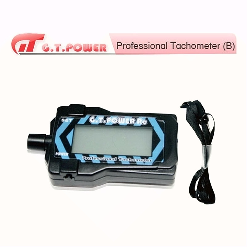 GT Power professional tachometer 2-9 blades prop LED display with hand strap for RC tools
