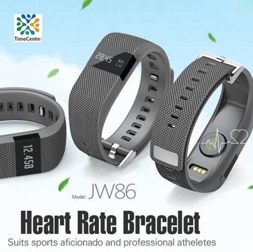 Jw86 Fitness Heart Rate Smart band Bracelet Wristband Tracker Bluetooth 4.0 Watch ios android (TW64 upgraded version) - Time Center Co. Ltd. store