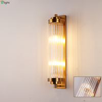 Modern Lustre Crystal Glass Led Wall Lamp Luminaria Gold Metal Bedroom Led Wall Light Fixtures Corridor Led Wall Lamps Lamparas