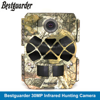Scouting Hunting Camera Trail Wild Game Trap Camera 30MP 1920P Full HD Cam & 48pcs 940nm IR LEDs Night Vision IP68 0.2s Trigger