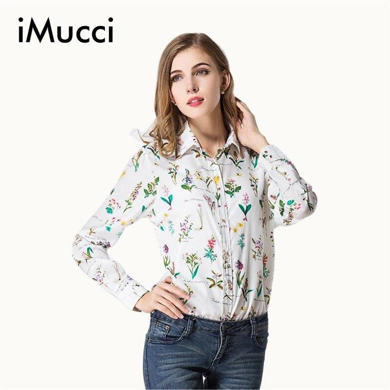 373766c935b Imucci otoño más tamaño blusas femininas mujeres Blusas nuevo Camisas metal  botón Tops floral cardigan blanco Blusa de gasa