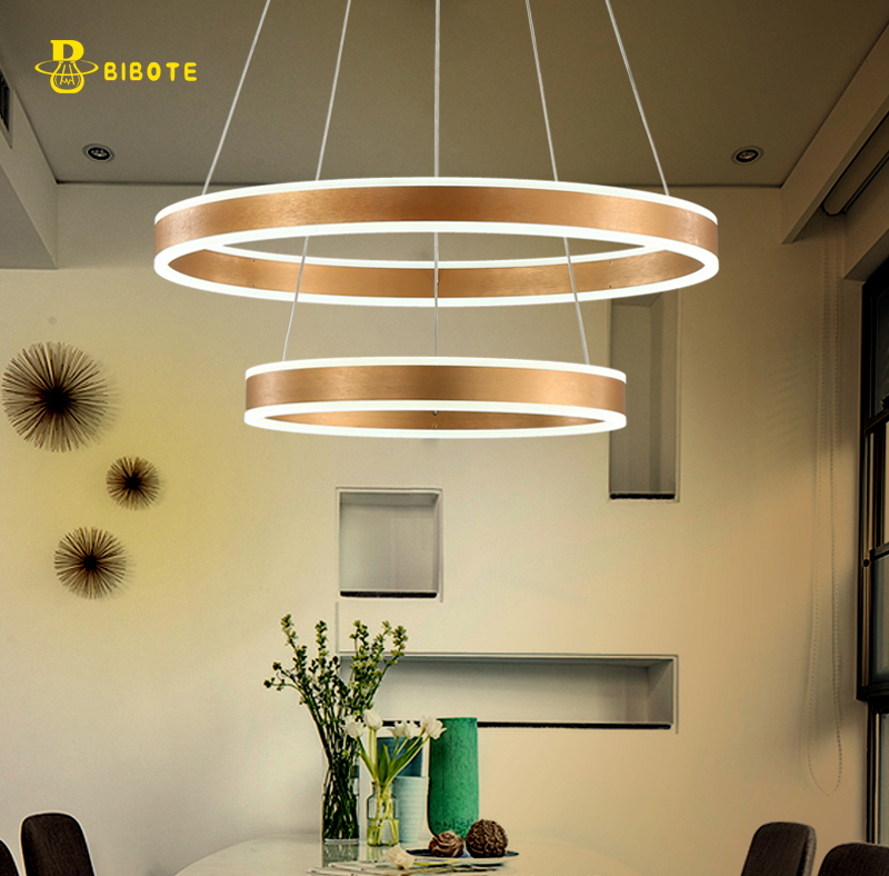 Luxury Modern Chandelier Led Circle Ring Light For Living Room Acrylic Re Lighting Rose Gold In Chandeliers From Lights