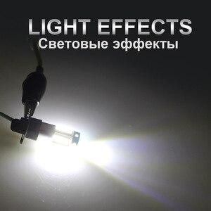 Image 5 - KEIN 2 قطعة H1 LED مصابيح سيارة السيارات LED الضباب مصباح 4014 30SMD DRL النهار تشغيل أضواء خارجية يوم القيادة سيارة الأبيض 6000K 12 فولت
