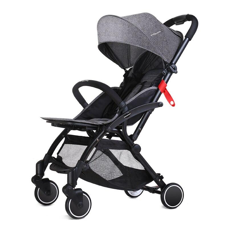 Poussette bébé ultra légère portable pliante peut s'asseoir inclinable parapluie enfant poussette bébé voiture